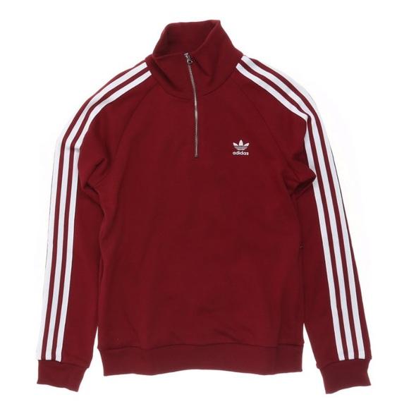 Adidas maroon quarter zip